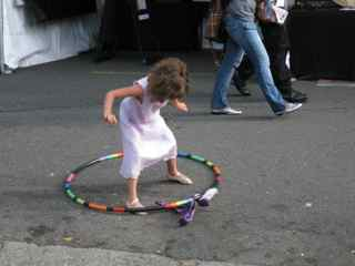 Tiburon Art Festival-Tara Mini with Hula Hoop 3