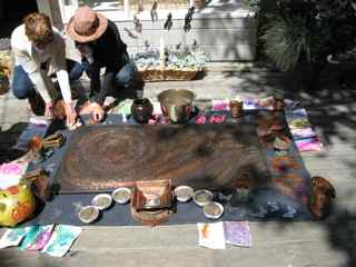 Tiburon-Art-Festival-feng-shui-ceremony-six-mounds-of-earth