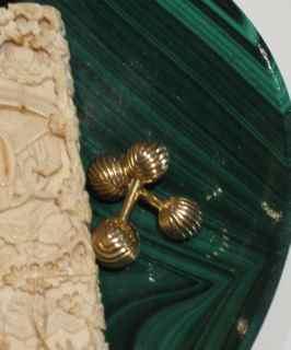 Feng Shui Gold Cufflinks