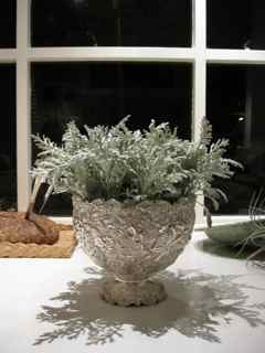 Elixir's Fifth Feng Shui Window- Silver Goblet plus Dusty Miller